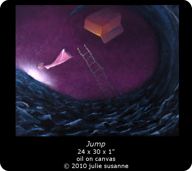Jump Oil Painting by Julie Susanne